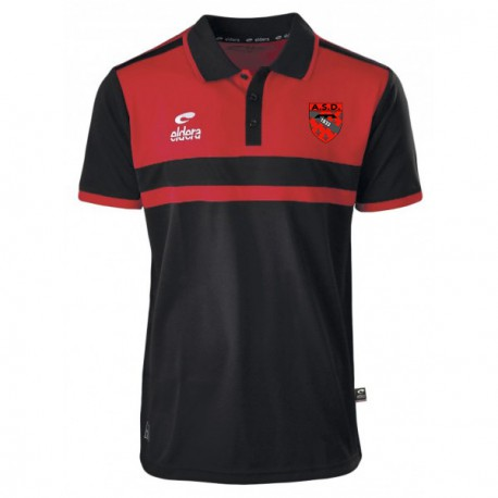 Polo ALLURE Noir/Rouge + Logo club