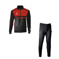 Veste ALLURE Noir/Rouge + Logo Club + Pantalon CEROS Noir