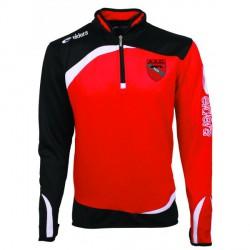 Sweat Zippé MONDIAL Rouge/Noir + Logo Club